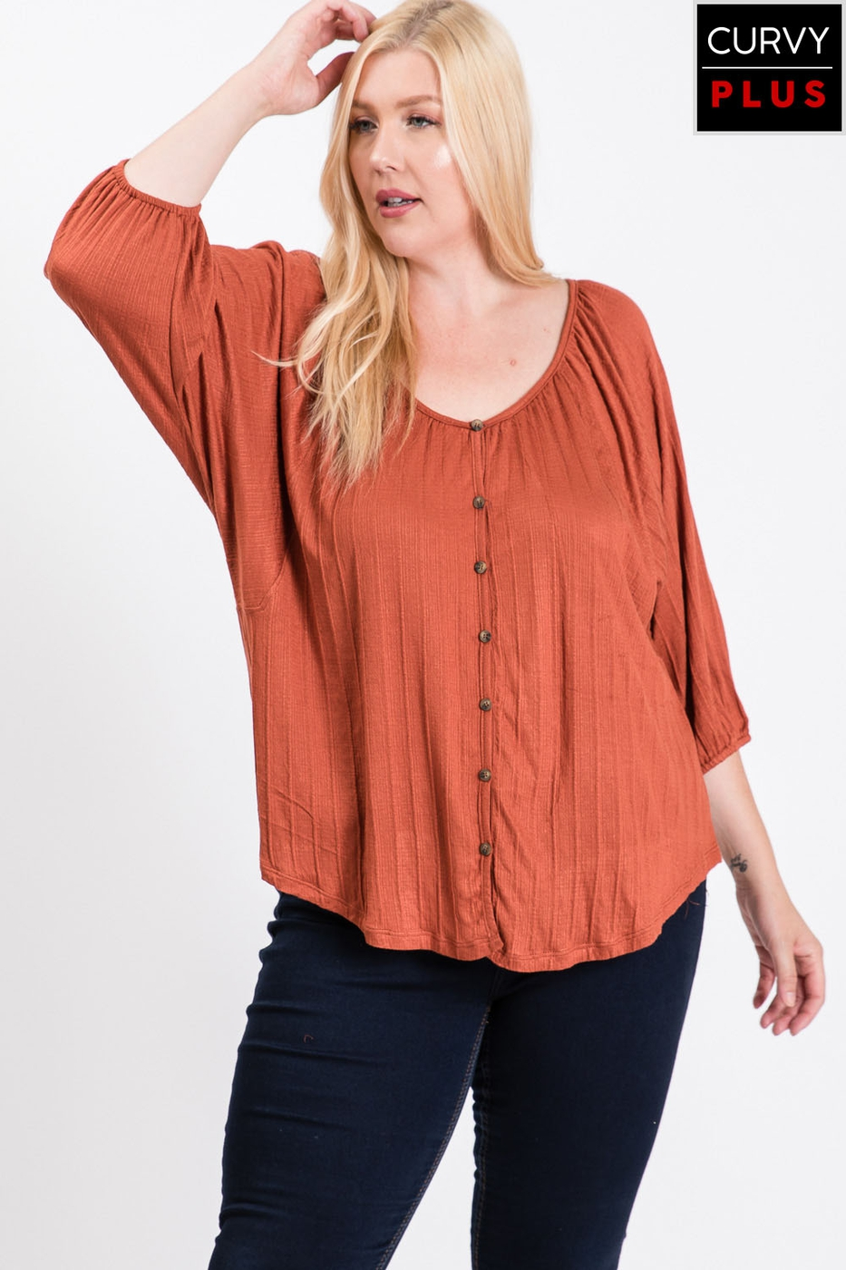 BALLOON SLEEVES KINT CASUAL PLUS - orangeshine.com