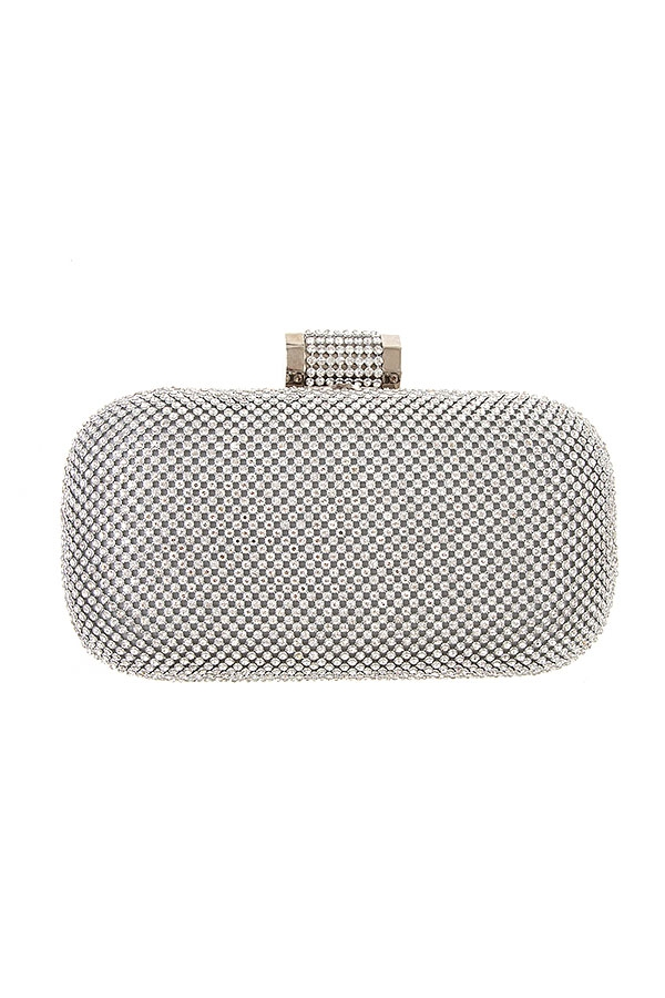 CRYSTAL MESH EVENING CLUTCH BAG  - orangeshine.com