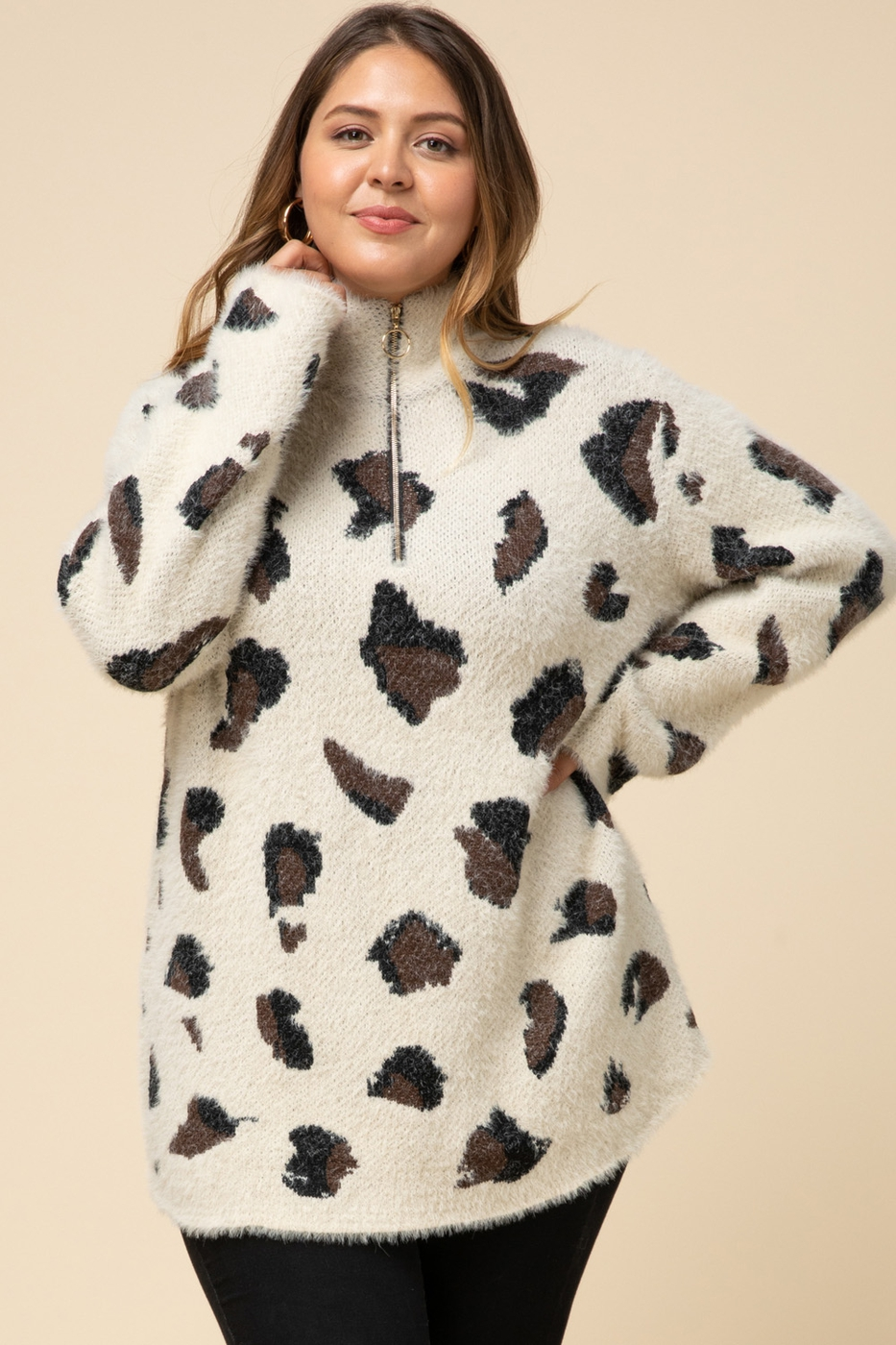Leopard sweater - orangeshine.com
