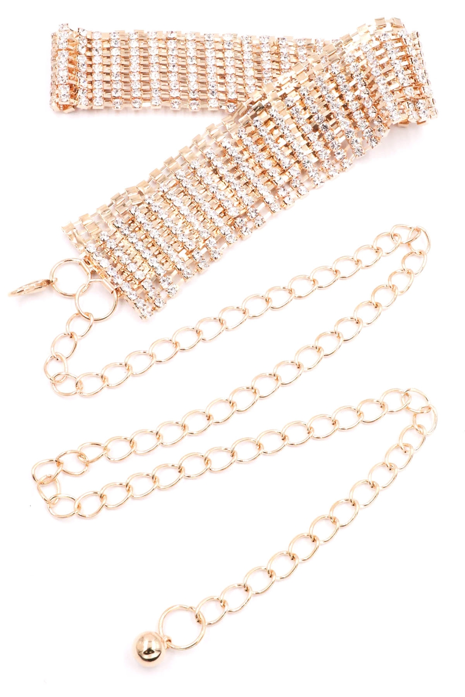 Rhinestone Chain Belt - orangeshine.com