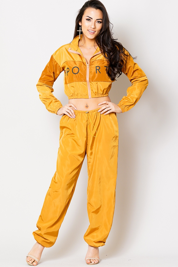 jumpsuit crop top and puffy pants - orangeshine.com