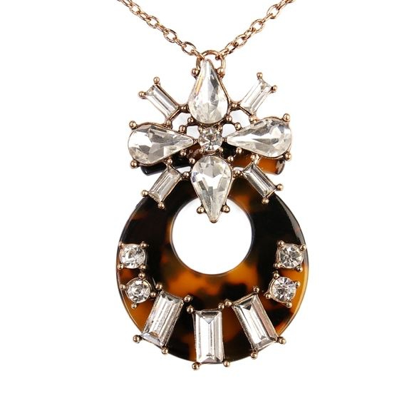GOLD TORTOISE MARQUISE NECKLACE - orangeshine.com