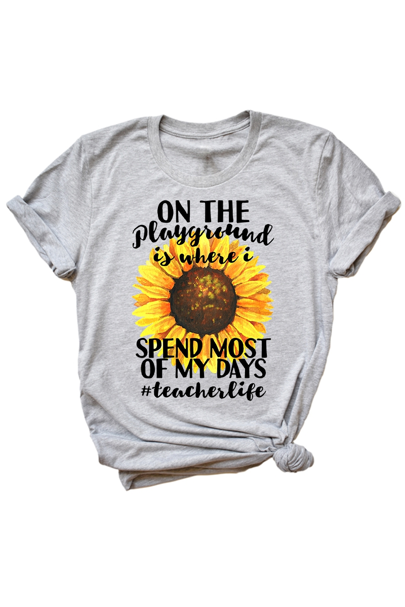 On the Playground - Teacher Tee - orangeshine.com