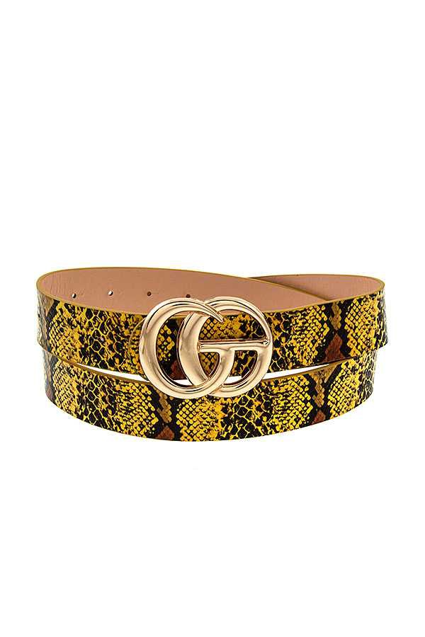 FASHION BUCKLE FAUX LEATHER BELT  - orangeshine.com