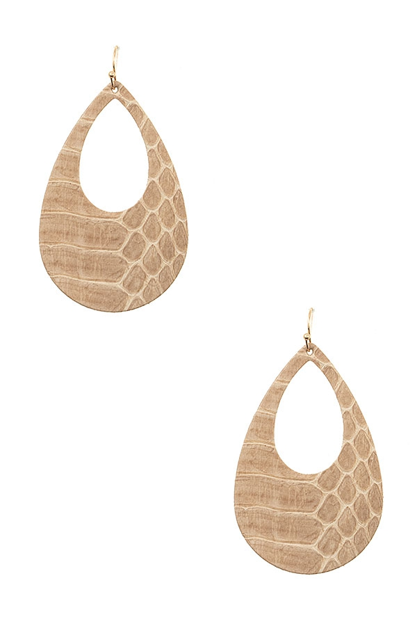 GENUINE LEATHER TEARDROP CUT OUT EAR - orangeshine.com