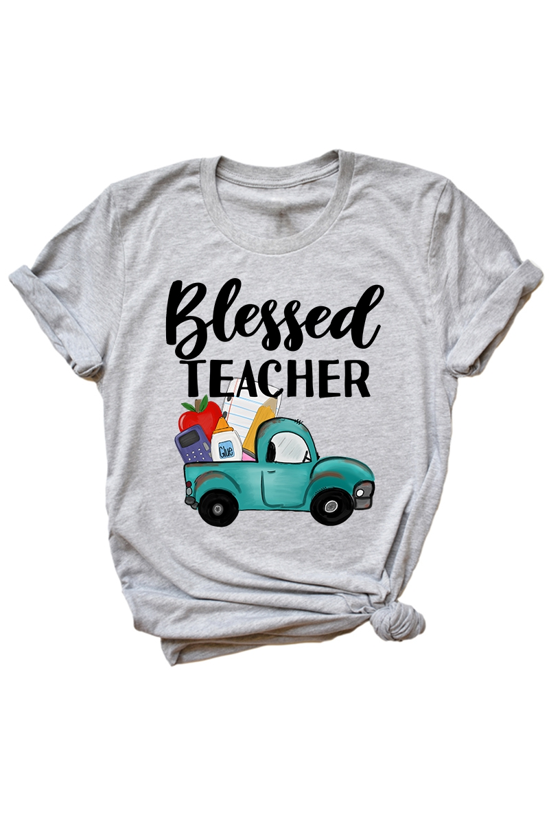 Blessed Teacher -Tee - orangeshine.com
