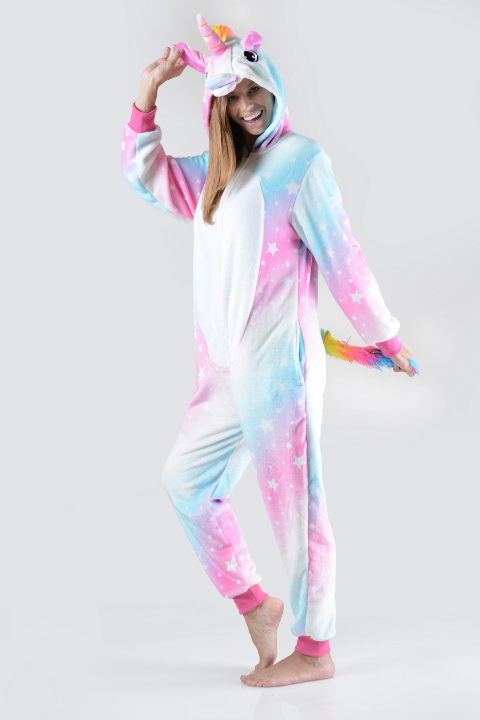 Pink And Blue Star Unicorn Onesie Pa - orangeshine.com