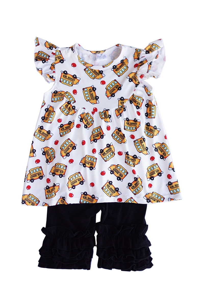 School bus print tunic - orangeshine.com