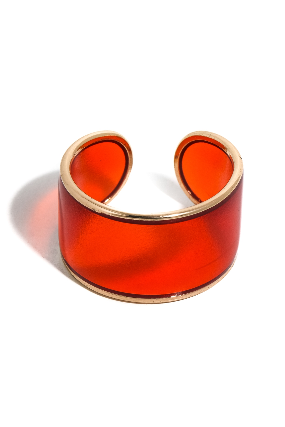 Wide Clear Resin Open Band Ring - orangeshine.com