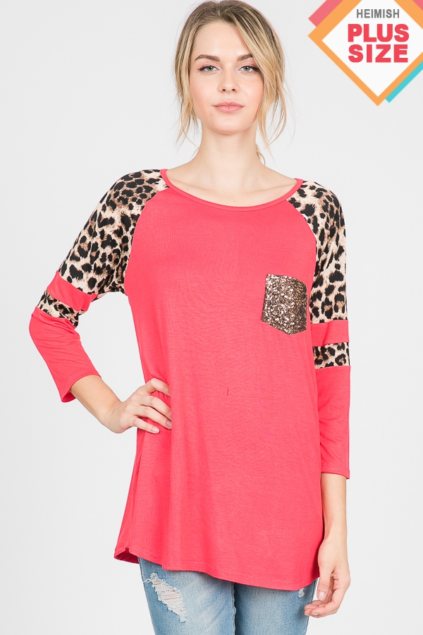 PLUS SOLID AND ANIMAL PRINT CONTRAST - orangeshine.com