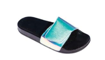 HOLO SILP ON FLAT FOOTBED SANDALS - orangeshine.com