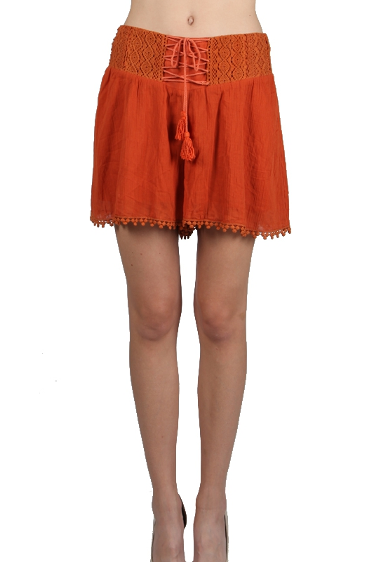 RP9132 LOSE FITTED SHORTS LACE  - orangeshine.com