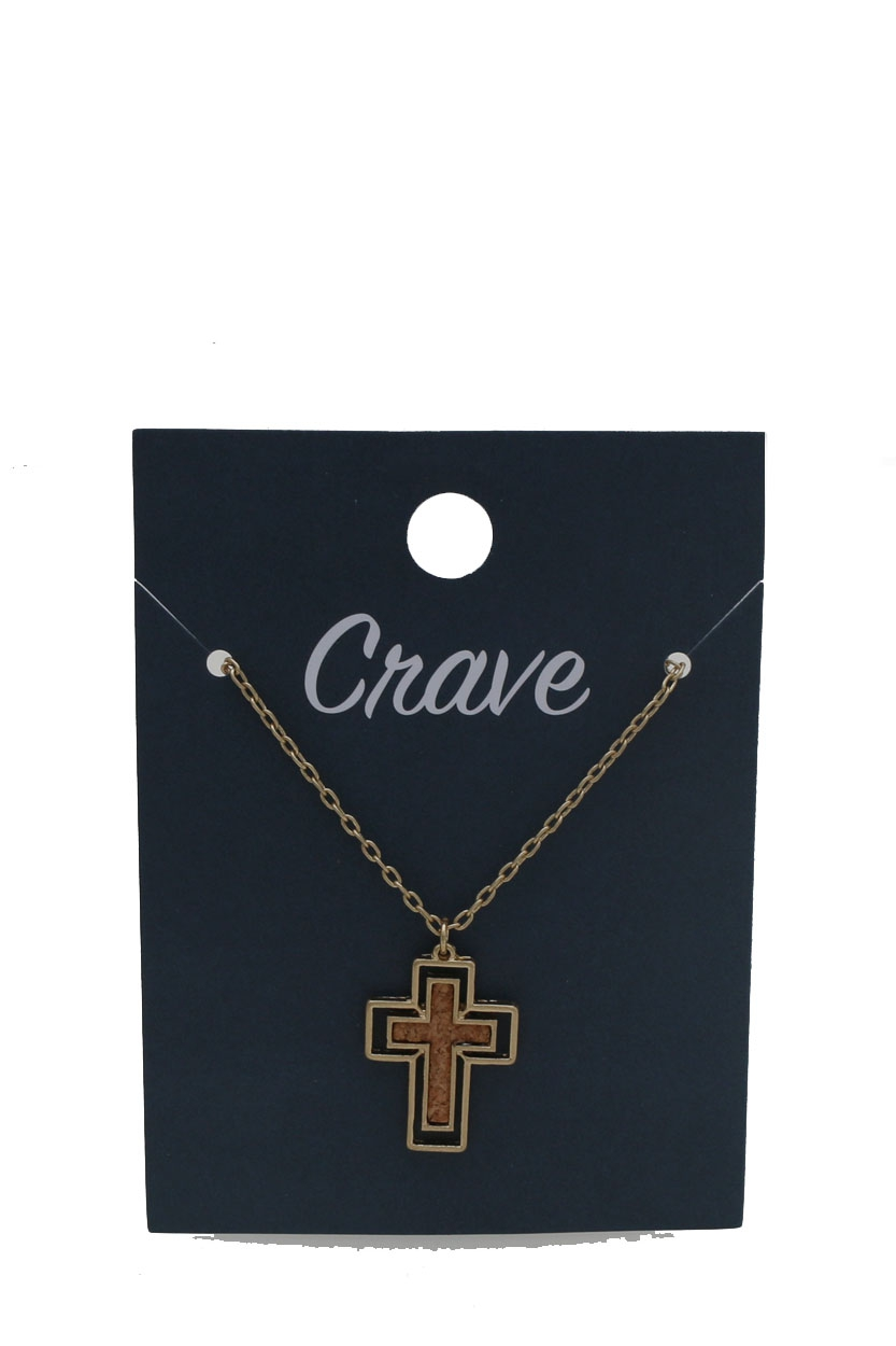 CROSS PENDENT NECKLACE  - orangeshine.com