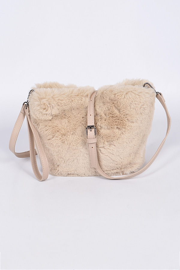 Faux Fur Clutch - orangeshine.com