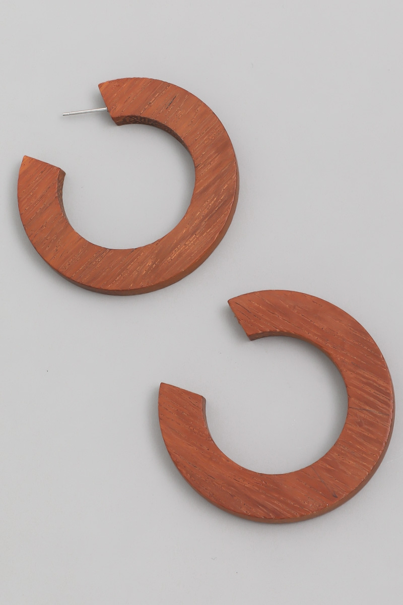 Wood Hoop Earrings - orangeshine.com