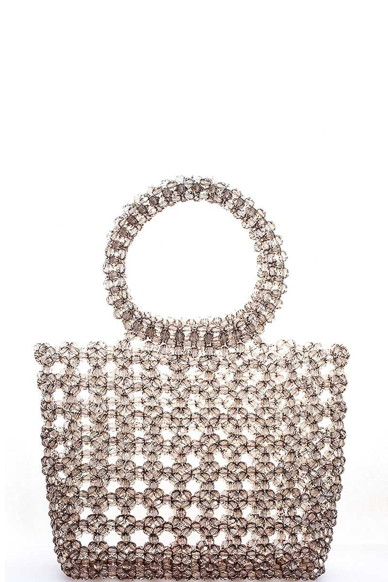 TRENDY BEADED CUTE TOTE BAG - orangeshine.com