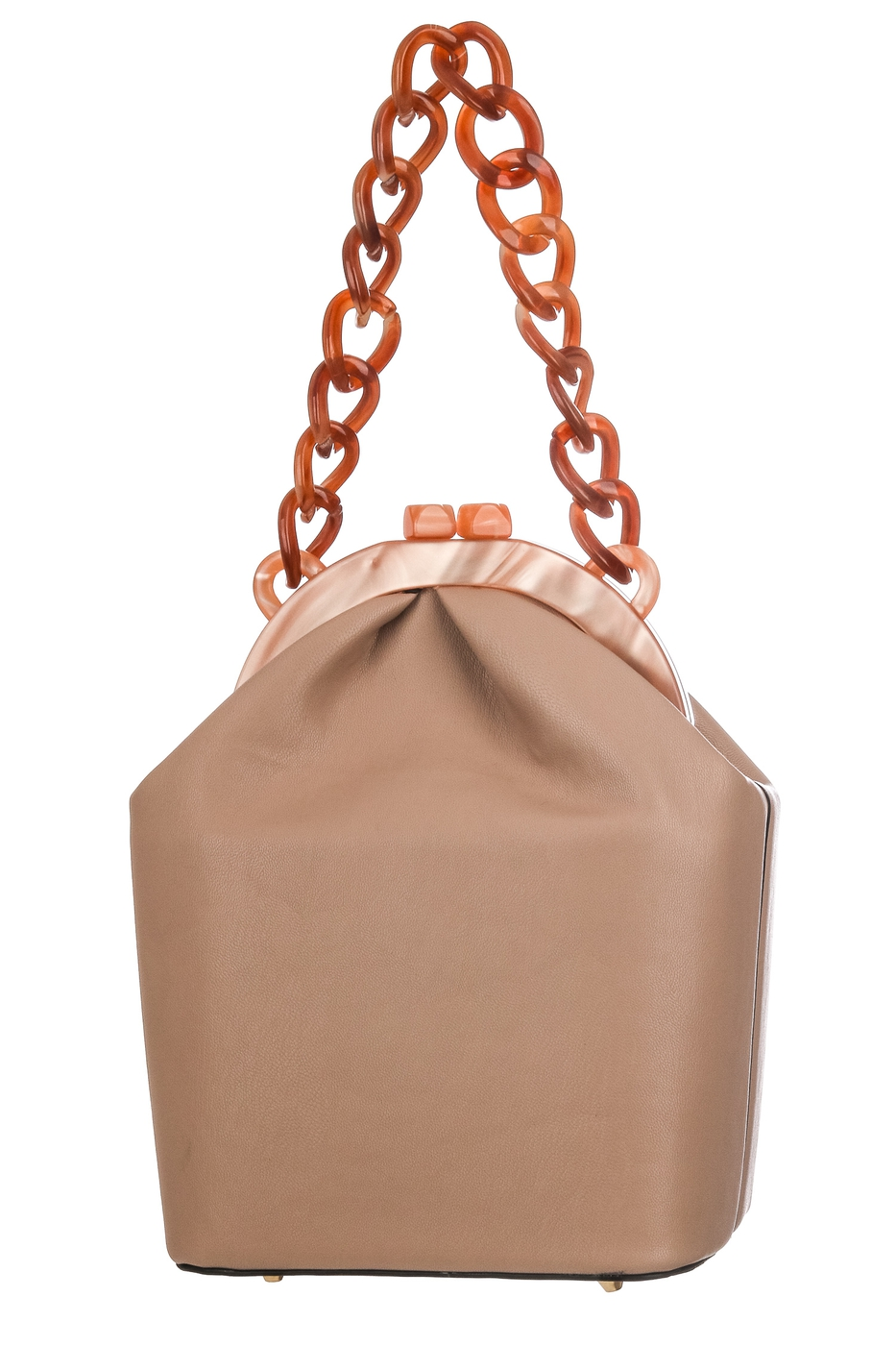 Acetate Chain Strap Faux Leather Bag - orangeshine.com