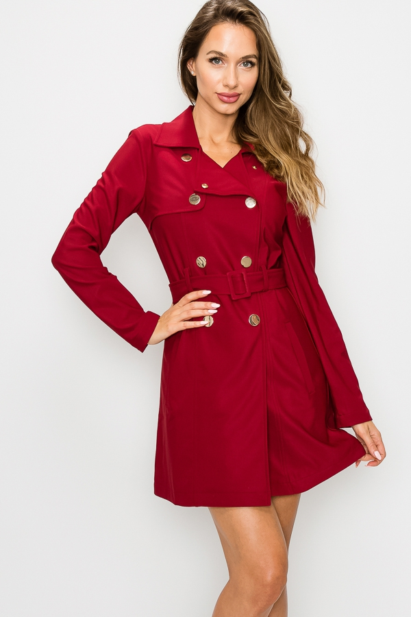 DOUBLE-BREASTED TRENCH COAT - orangeshine.com