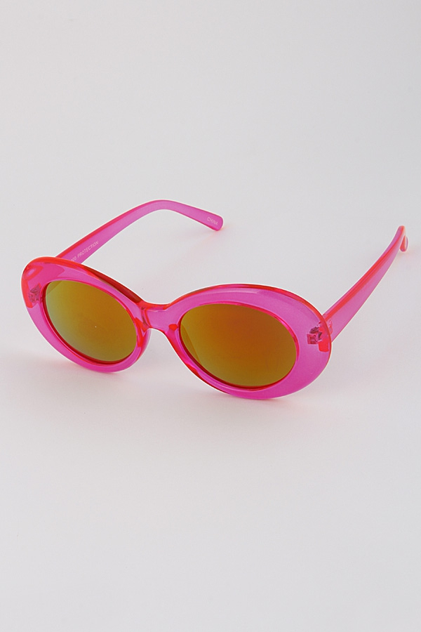 Tinted Transparent Rim Sunglasses - orangeshine.com