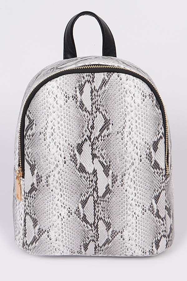 Intricate Snakeskin Backpack - orangeshine.com