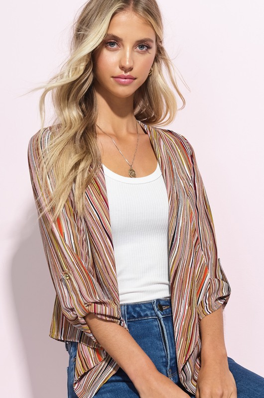Roll Up Sleeves Cardi - orangeshine.com