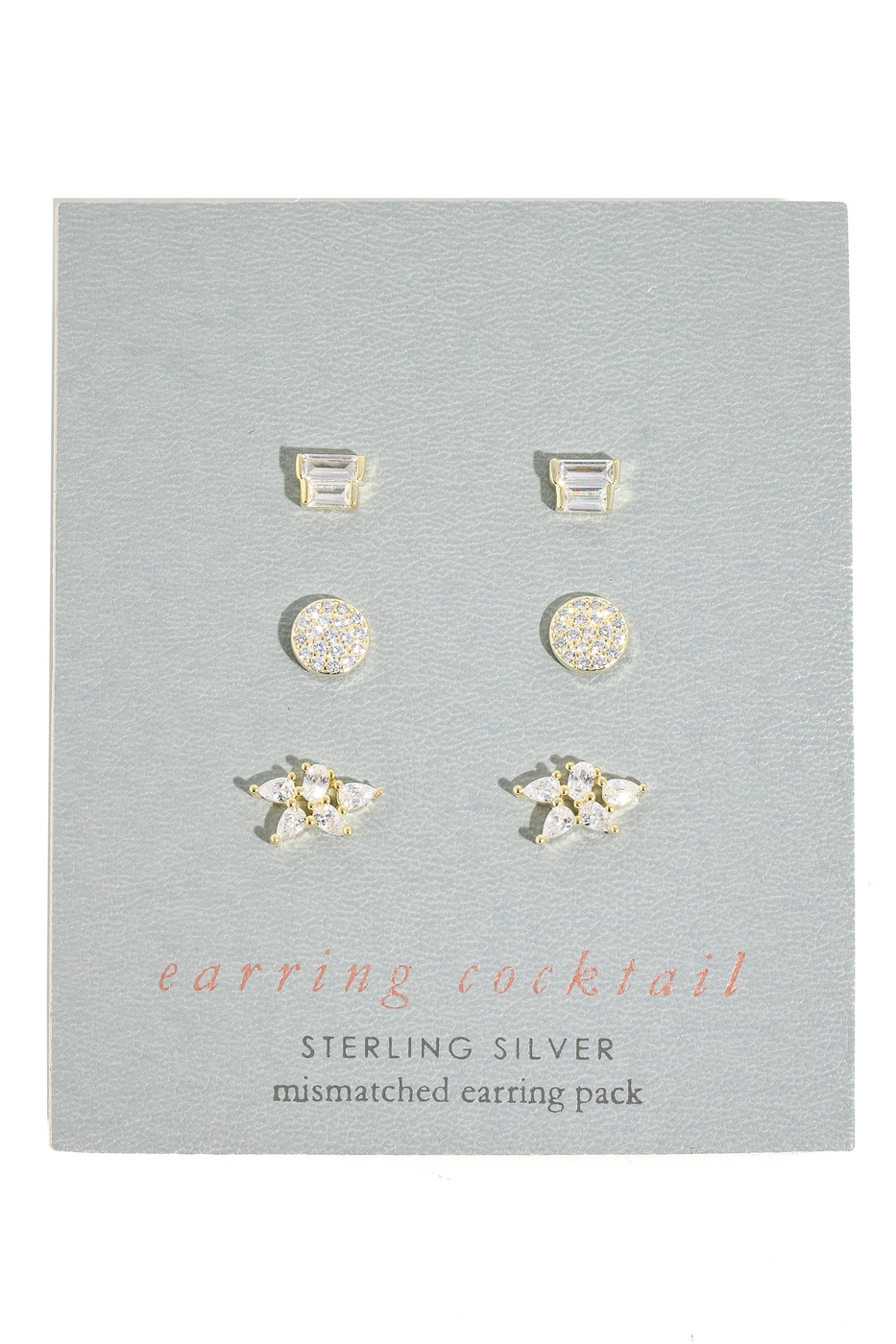 Mixed Sterling Silver Stud Earrings - orangeshine.com