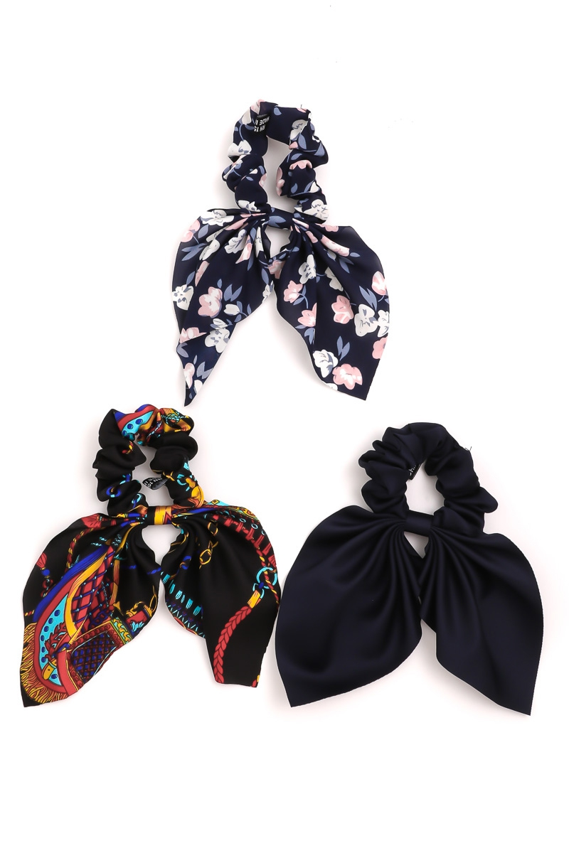Ruffled Tail Scrunchies Hair Ties - orangeshine.com