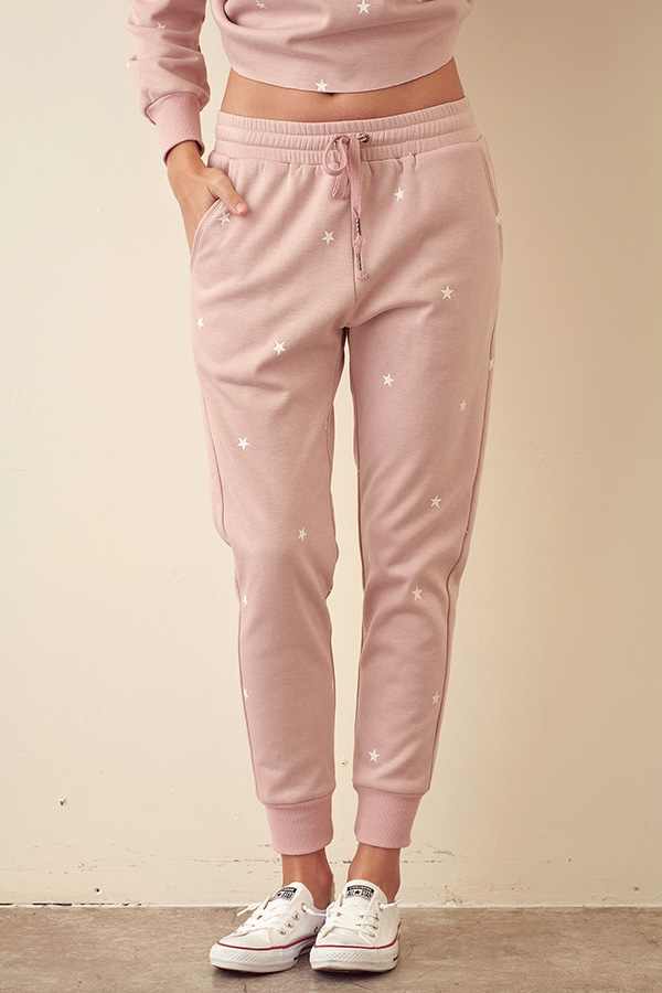 STAR PATTERNED JOGGER PANTS - orangeshine.com