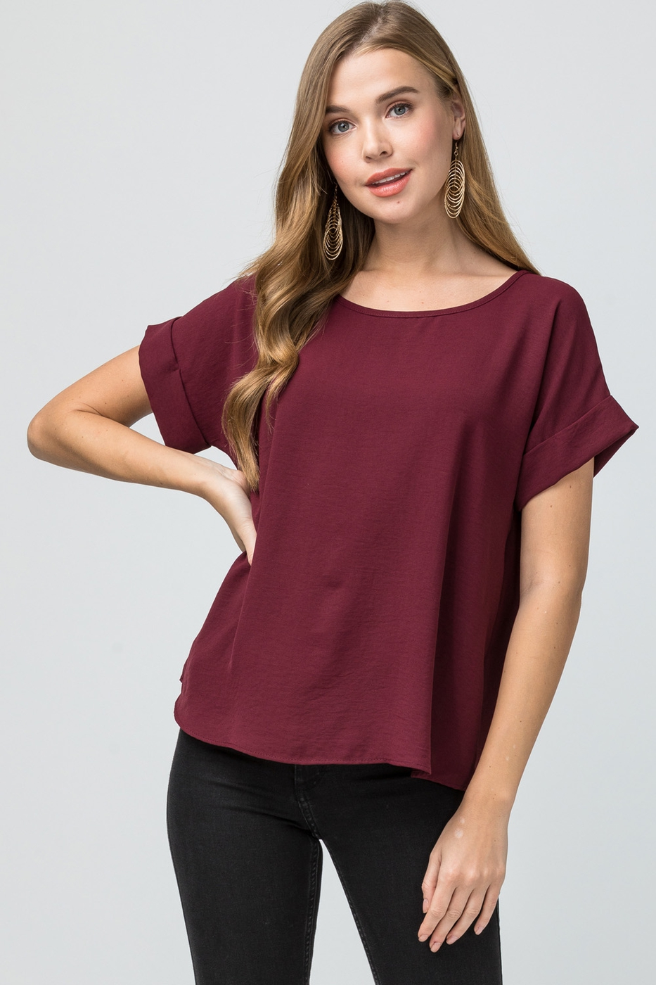 Scoop-neck top - orangeshine.com