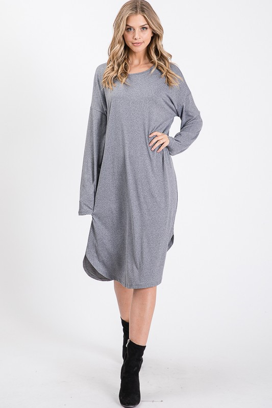 PLUS SIZE LOOSE FIT MID-DRESS   - orangeshine.com