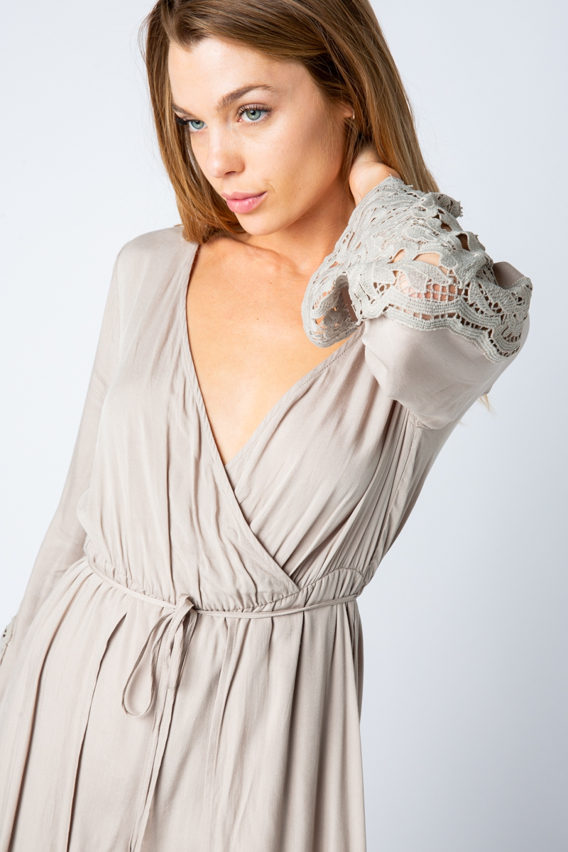 MAXI ROMPER WITH LONG SLEEVES  - orangeshine.com