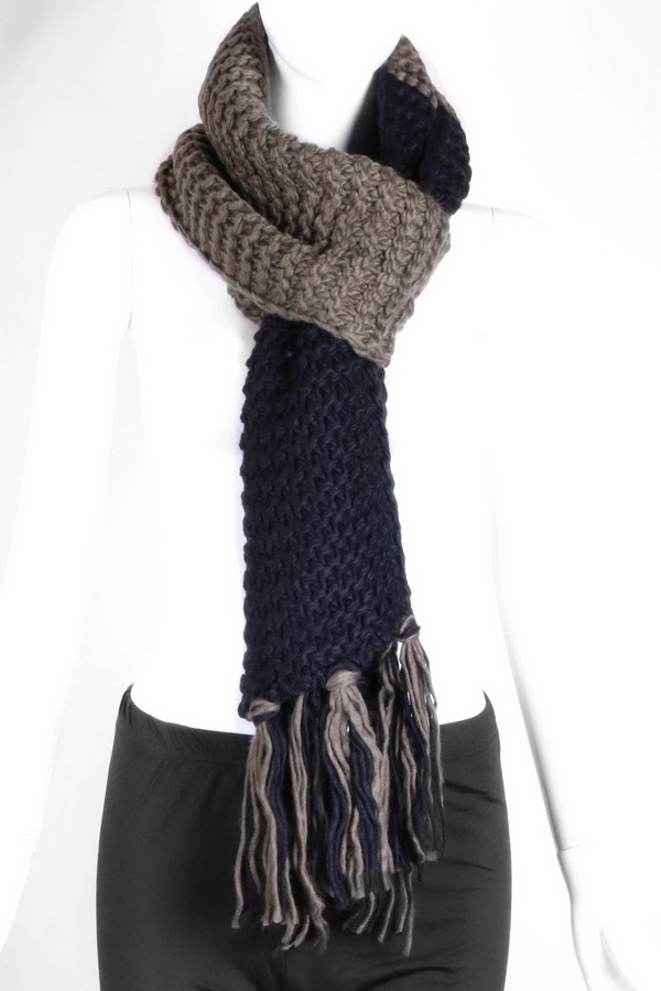 Knit Oblong Scarf - orangeshine.com