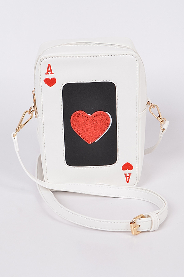 Ace Of Hearts Clutch - orangeshine.com