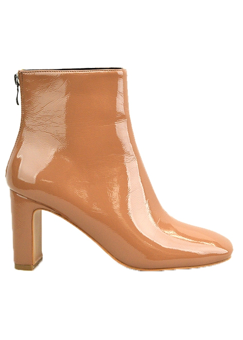 PU PLAIN HIGH HEEL BOOTIE WITH BACK  - orangeshine.com