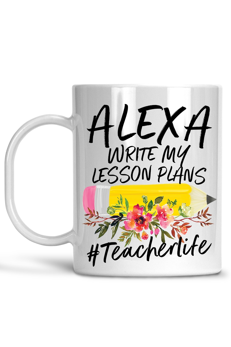 Alexa Lesson Plans Coffee Mug - orangeshine.com