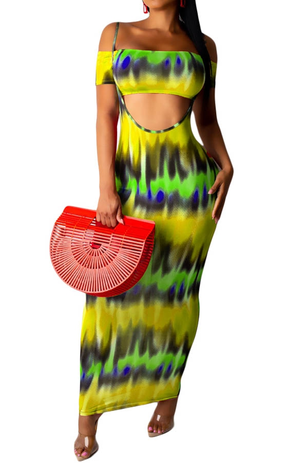 TWO PIECE MAXI DRESSES OFF SHOULDER  - orangeshine.com