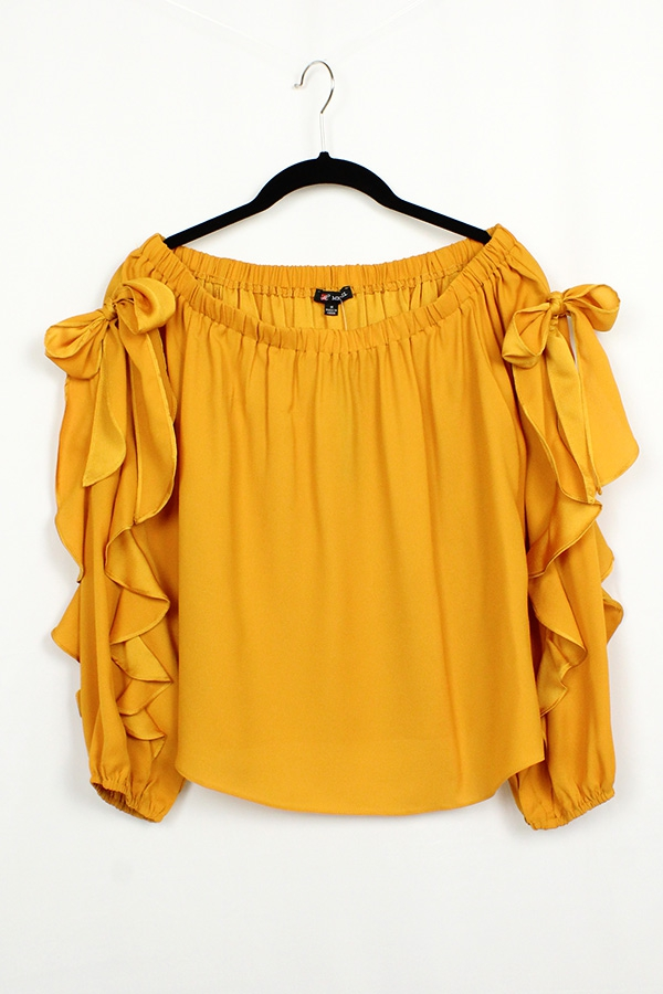 Solid Off Shoulder Blouse - orangeshine.com