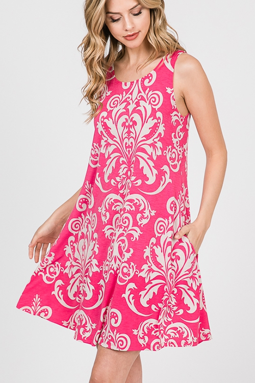 DAMASK DRESS WITH SIDE POCKET - orangeshine.com