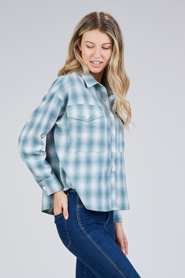 OVERSIZE PLAID SHIRT - orangeshine.com