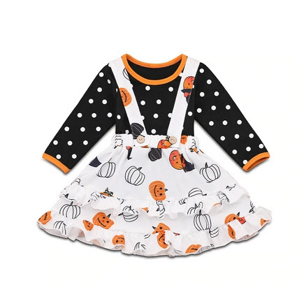 Halloween Suspender skirt set - orangeshine.com