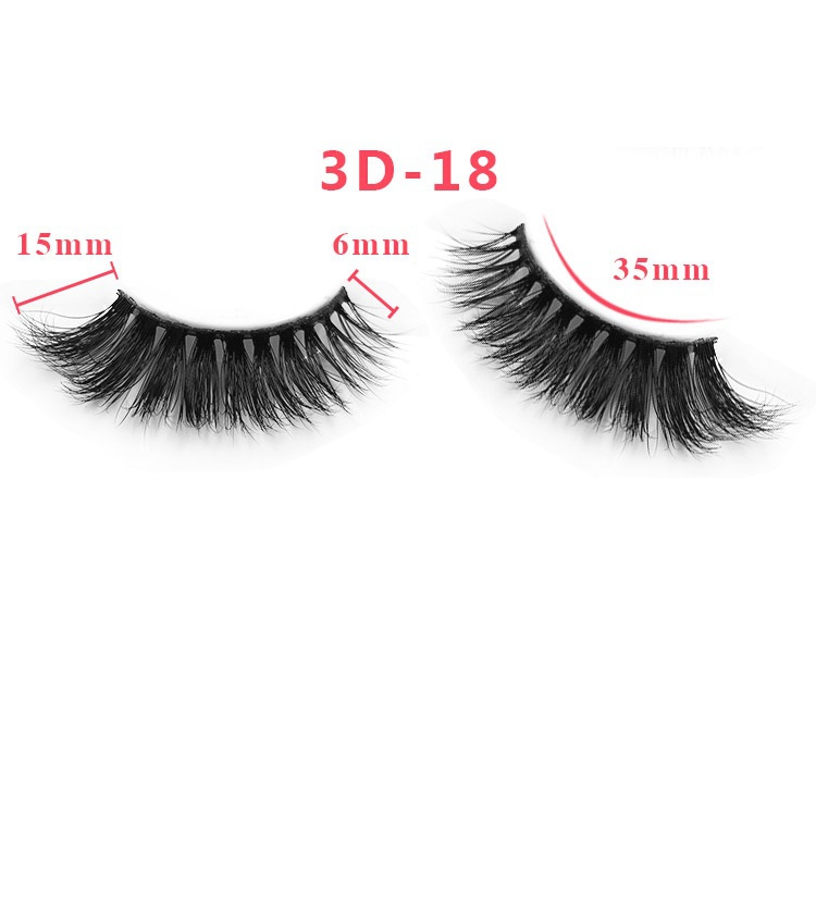 3D False Eyelashes Real Mink Fur Las - orangeshine.com