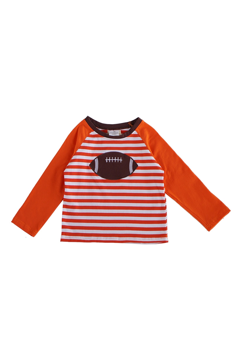 Orange baseball applique stripe - orangeshine.com