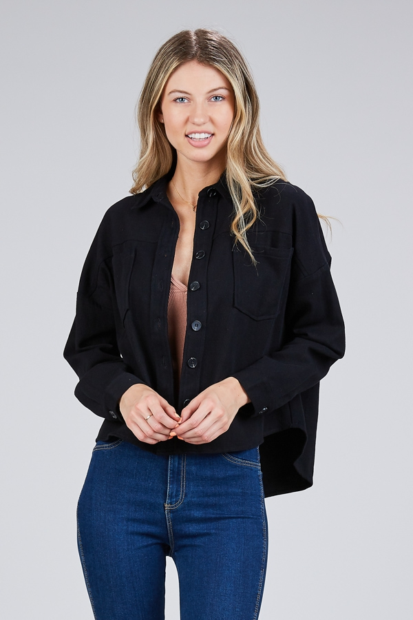 COTTON DOLMAN LIGHTWEIGHT JACKET - orangeshine.com