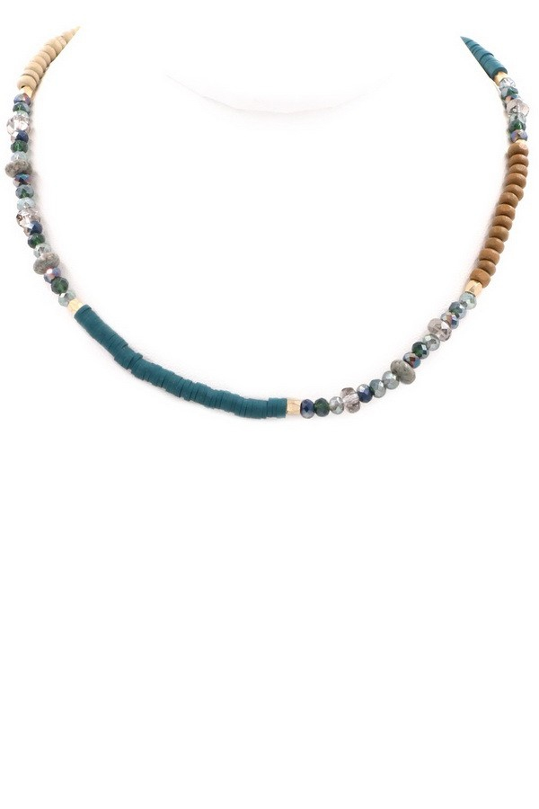 Wood Bead Necklace - orangeshine.com