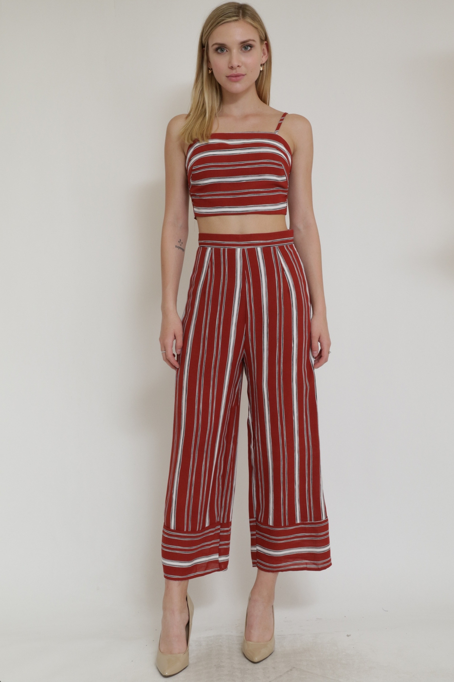 Stripe Set Pants and Top - orangeshine.com