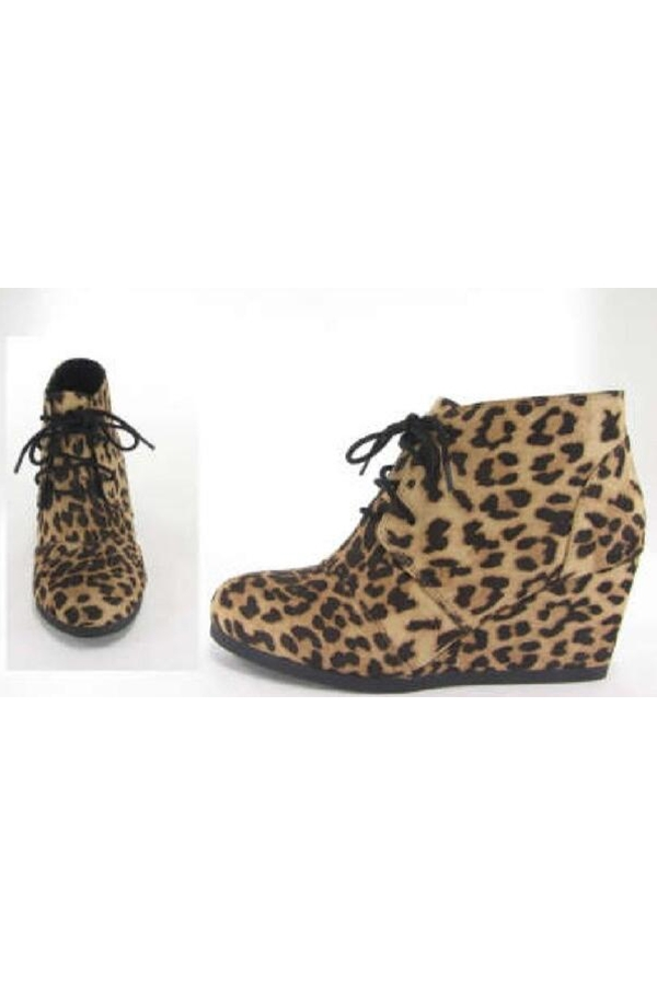 Women Wedge Platform Booties - orangeshine.com