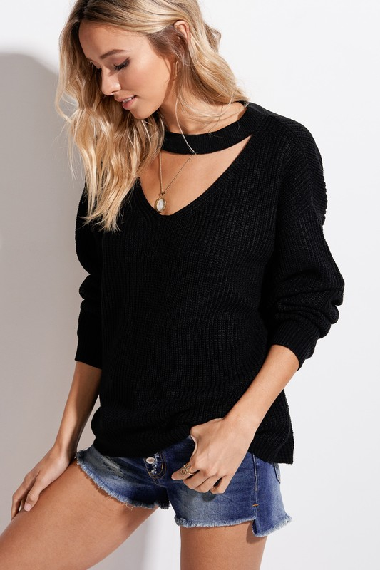 Cutout Sweater - orangeshine.com
