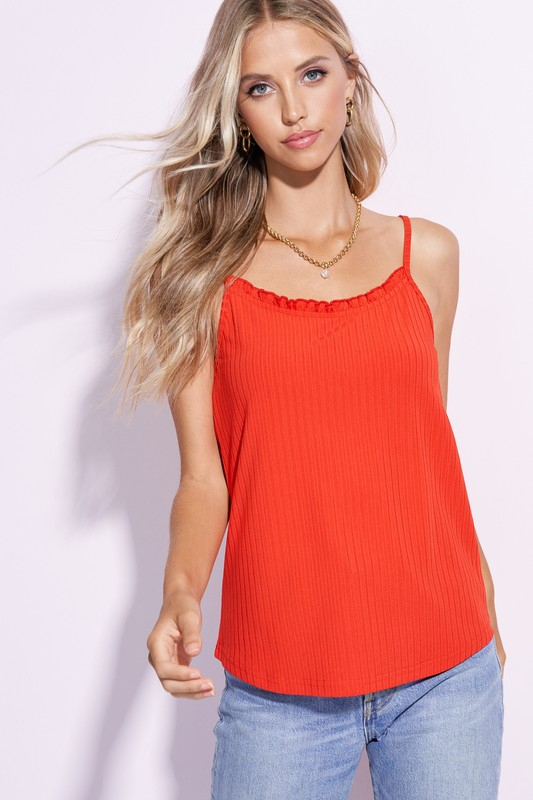 Ruffled Camisole Top - orangeshine.com