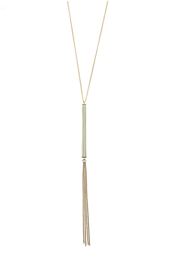 ELONGATED BAR PENDANT NECKLACE   - orangeshine.com