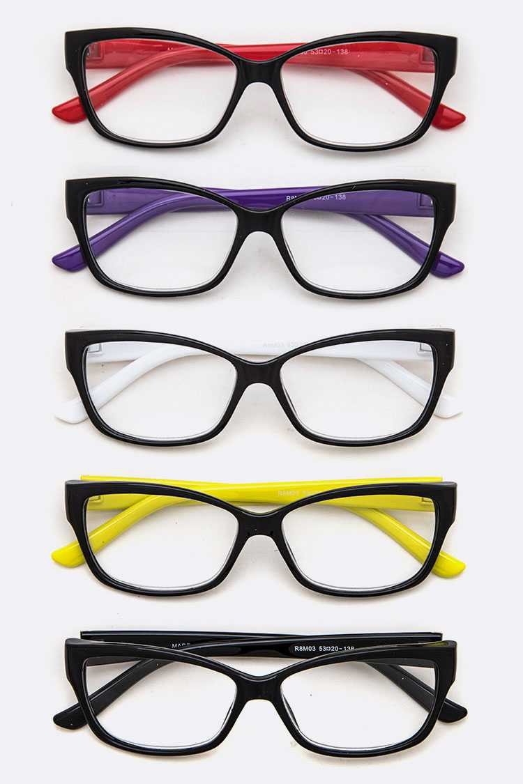 Fashion Logo Reading Glasses Set - orangeshine.com